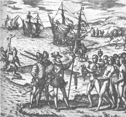 Пристигането на Колумб в Новия свят.